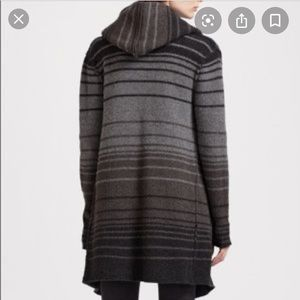 Oversized Vince hooded cardigan w/hood